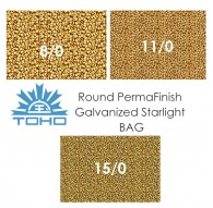 TOHO Round PermaFinish Galvanized Starlight BAG
