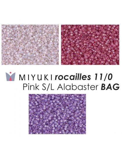 Miyuki Rocailles 11/0 Pink S/L Alabaster BAG