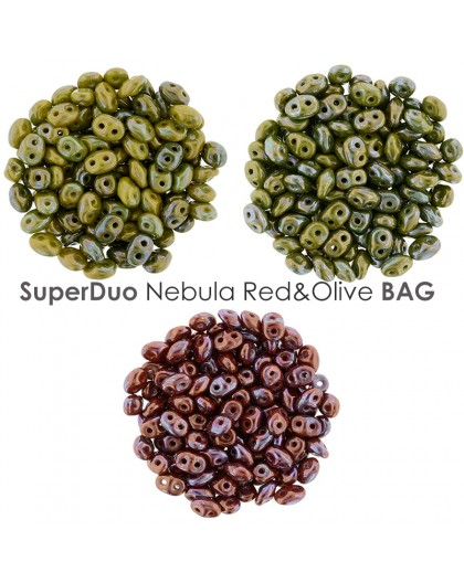 SuperDuo Satin Chartreuse Rouge BAG