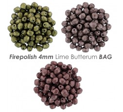 Firepolish 4mm Gray Marina BAG
