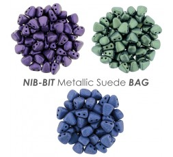 NIB-BIT Metallic Suede BAG