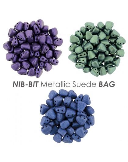 NIB-BIT Metallic Suede BAG