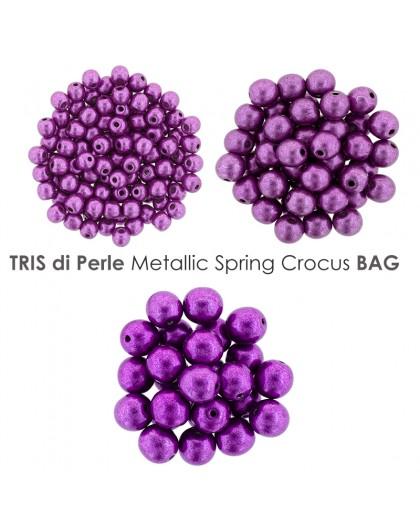 Tris di Perle Metallic Crocus Petal BAG