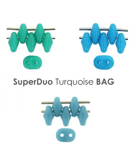 Superduo Turquoise BAG