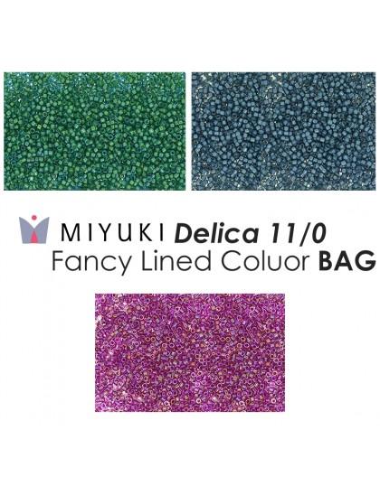 Miyuki Delica 11/0 Fancy Lined Gray BAG