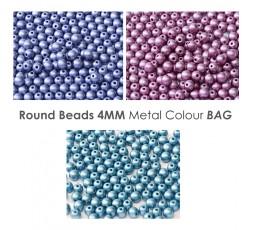 Round 4mm Metallic BAG
