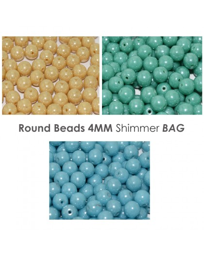 Round Beads 4MM Metal Colour BAG