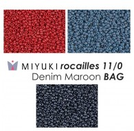 Miyuki Rocailles 11/0 Denim Maroon BAG