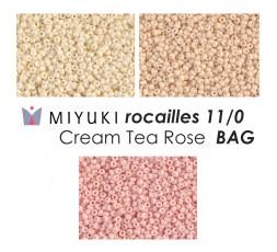 Miyuki Rocailles 11/0 Cream Tea Rose BAG