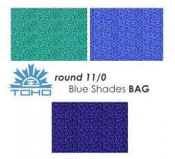 TOHO Round 11/0 Blue Shades BAG