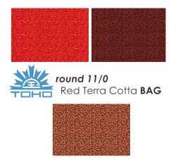 TOHO Round 11/0 Red Terra Cotta BAG