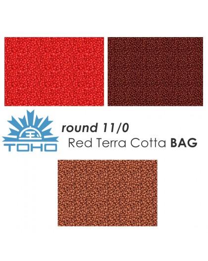 TOHO Round 11/0 Red Terra Cotta BAG