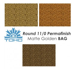 TOHO Round 11/0 Permafinish Matte Golden BAG