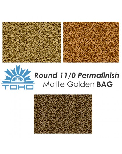 TOHO Round 11/0 Permafinish Matte Golden BAG