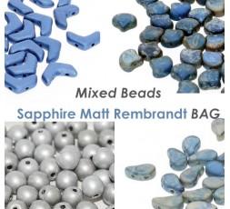 Mixed Beads Sapphire Matt Rembrandt BAG