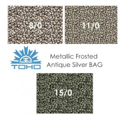 TOHO Metallic Frosted Antique Bronze BAG