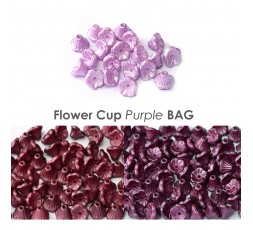 Flower Cup Beads Blue Shades Bag