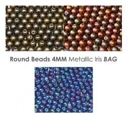 Round 4mm Metallic BAG
