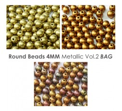 Round 4mm Metallic Iris BAG