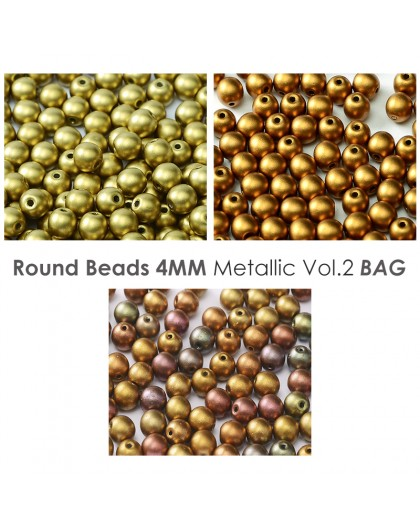 Round 4mm Metallic Iris BAG