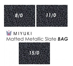 Miyuki Matted Metallic Slate BAG