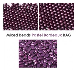 Mixed Beads Pastel Bordeaux BAG
