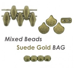 Mixed Beads Suede Lt Green BAG