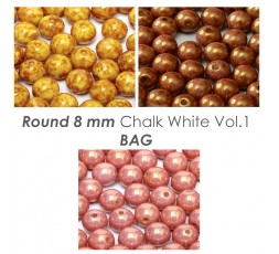 Round 8 mm Chalk White Vol.1 BAG