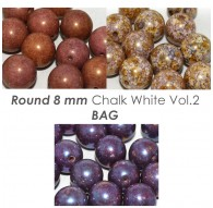 Round 8 mm Chalk White Vol.1 BAG