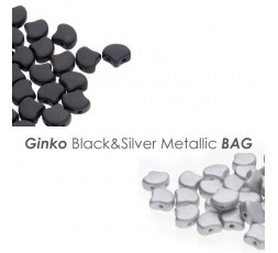 Ginko Black&Silver Metallic BAG