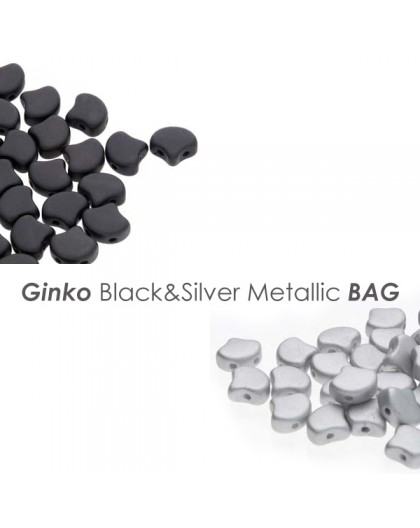 Ginko Black&Silver Metallic BAG