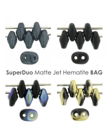 SuperDuo Matte Jet Hematite BAG