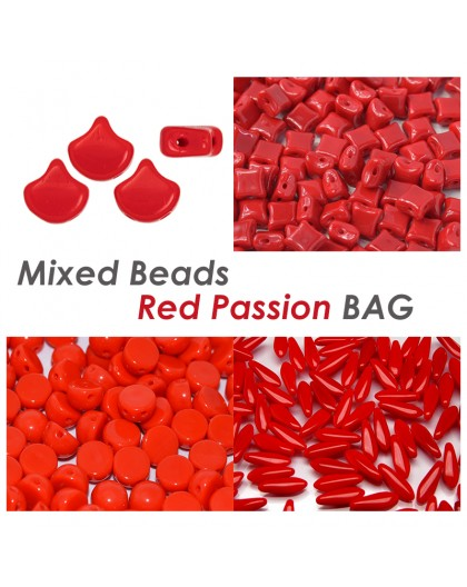 Mixed Beads Red Passion BAG