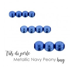 Tris di Perle Metallic Nebulas Blue BAG