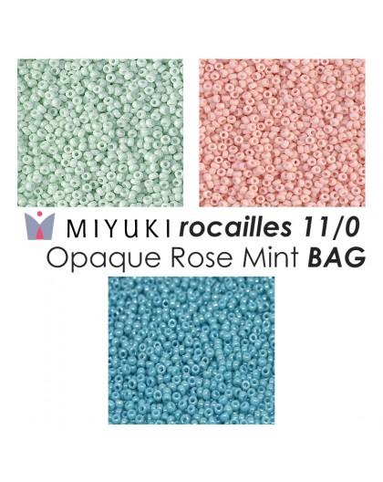 Miyuki Opaque Rose Mint BAG