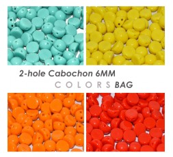 2-hole Cabochon Colors BAG
