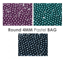 Round 4mm Pastel BAG