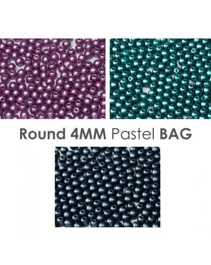 Round 4mm Hazelnut Greenery BAG