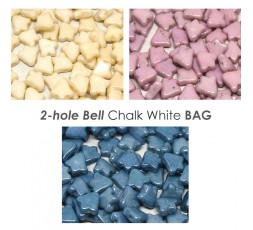 2-hole Bell Chalk White BAG