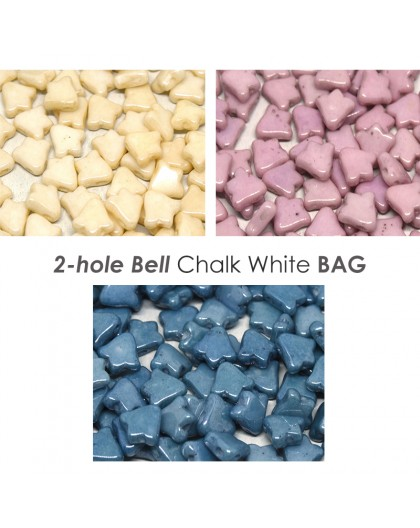 2-hole Bell Chalk White BAG