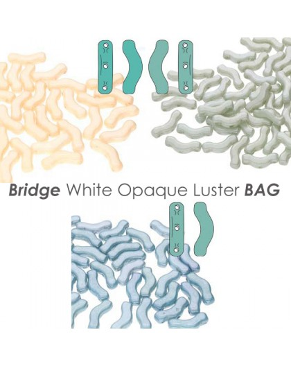 Bridge White Opaque Luster BAG