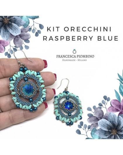 KIT ORECCHINI Raspberry Blue