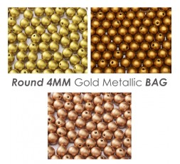 Round 4MM Dark Metallic BAG