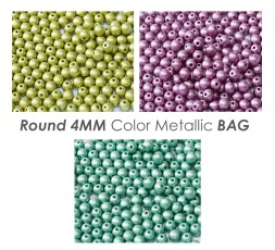 Round 4MM Gold Metallic BAG