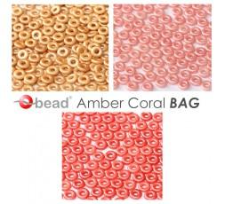 O bead ® Amber Coral BAG