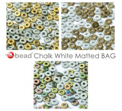 O bead ® Chalk White Matted BAG