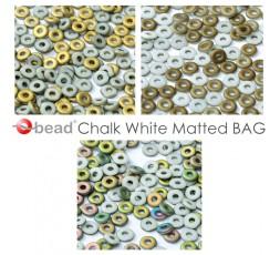 O bead ® Chalk White Matted BAG