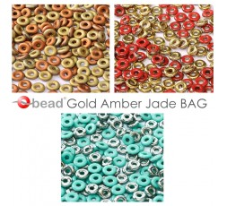 O bead ® Gold Amber Jade BAG