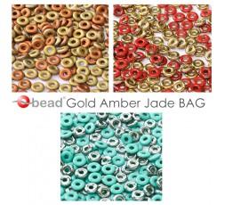 O bead ® Gold Amber Jade BAG