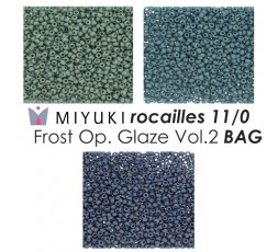 Miyuki Rocailes 11/0 Frost Opaque Glaze Vol.1 BAG